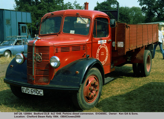1948 Bedford OLB 4x2 Perkins diesel conversion