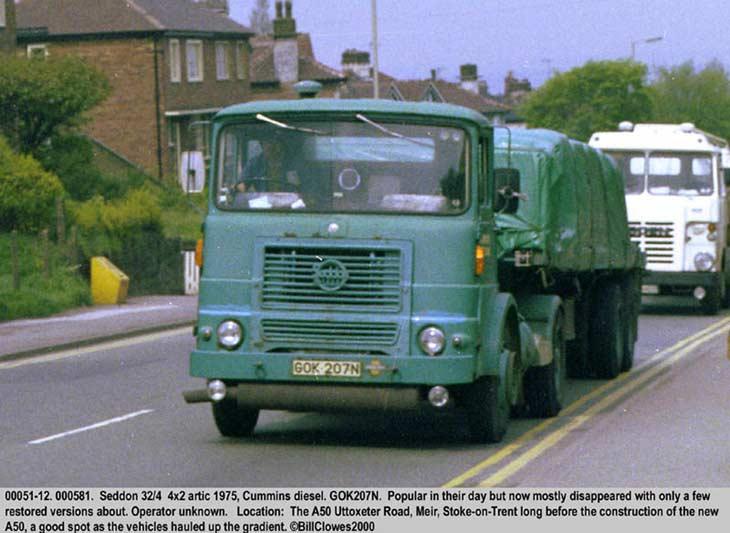1975 Seddon 32/4 4x2 Artic, Cummins Diesel
