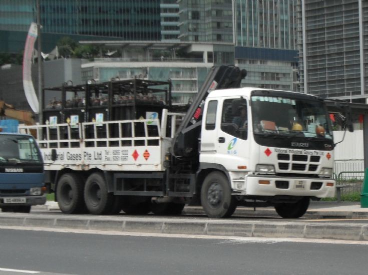 National Industrial Gases Pte Ltd Isuzu Giga CXZ Hazardous Cargo Truck