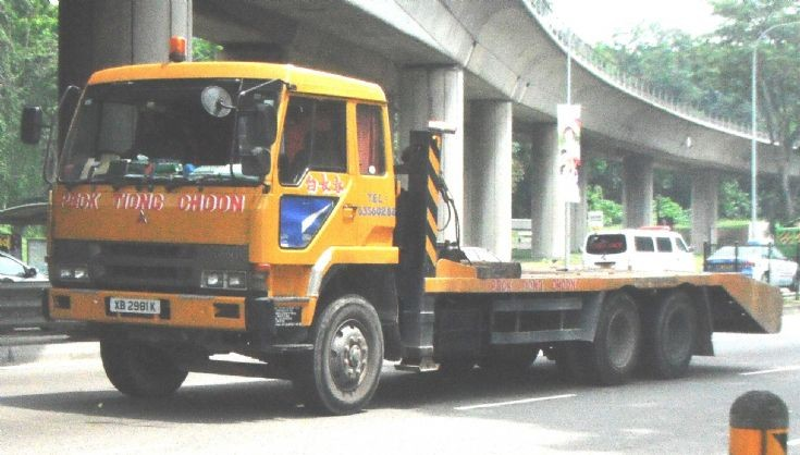 Peck Tiong Choon Mitsubishi Fuso Great FU416 Self Loader Truck (Jack Lorry)