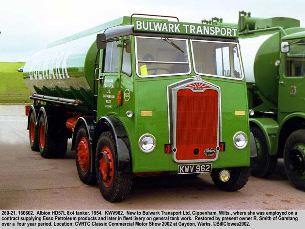 Albion HD57L 8x4 Tanker, 1954