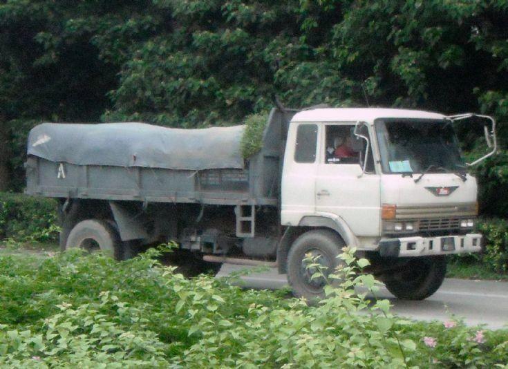 Hino Ranger FF Dump Truck on the road