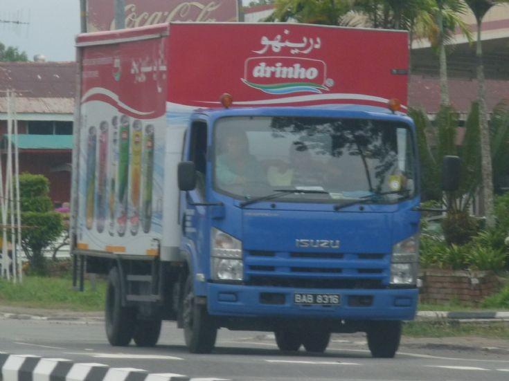 Isuzu NPR Drinho delivery truck