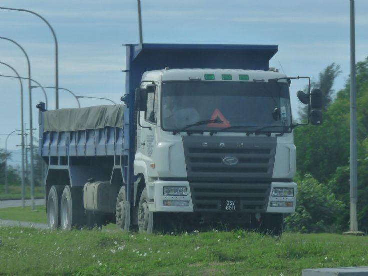 CAMC four axle dump truck