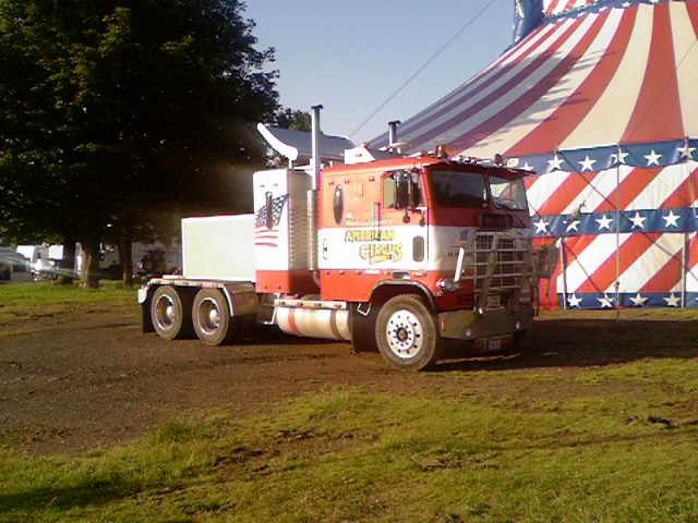 Freightliner Flb truck of American Circus