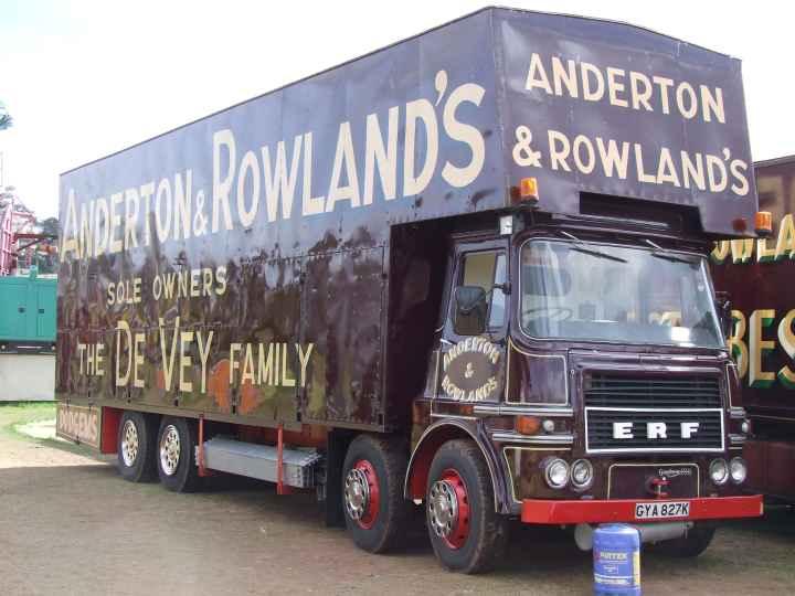 ERF 8 wheeler Showmans truck GYA 827K