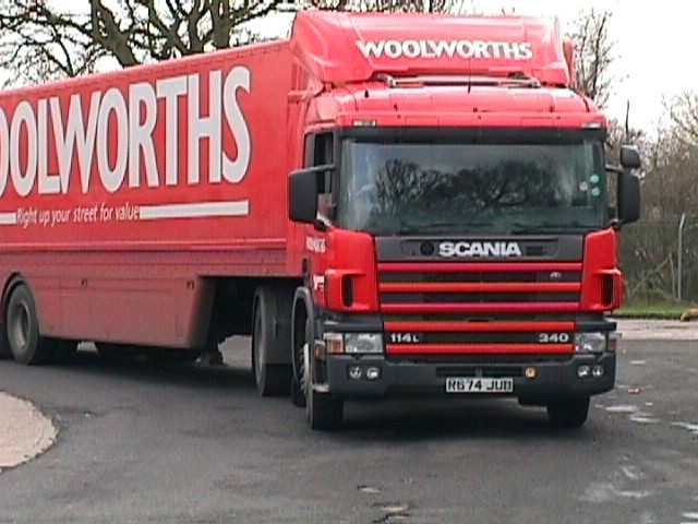Scania P114 of the (former) Woolworths