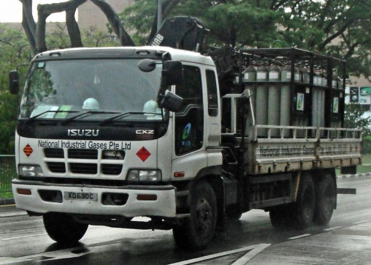 Isuzu Giga CXZ Hazardous Cargo Truck National Industrial Gases Pte Ltd