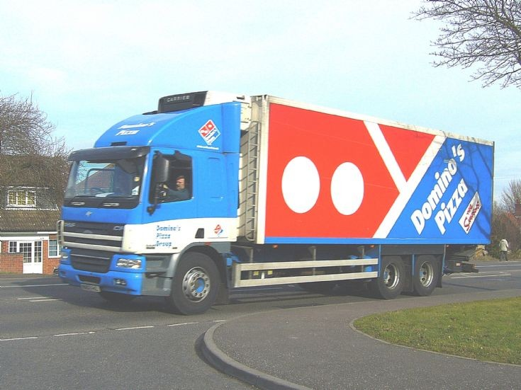 Truck Photos - DAF CF420 lorry of Domino's Pizza