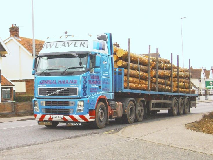 Volvo FH12 lorry of Weaver transport