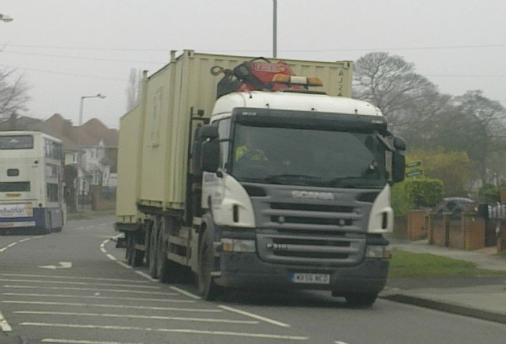 Scania P310 on the road in Walsall