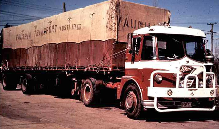 Vaughan Transport Australia Foden and sheeted load
