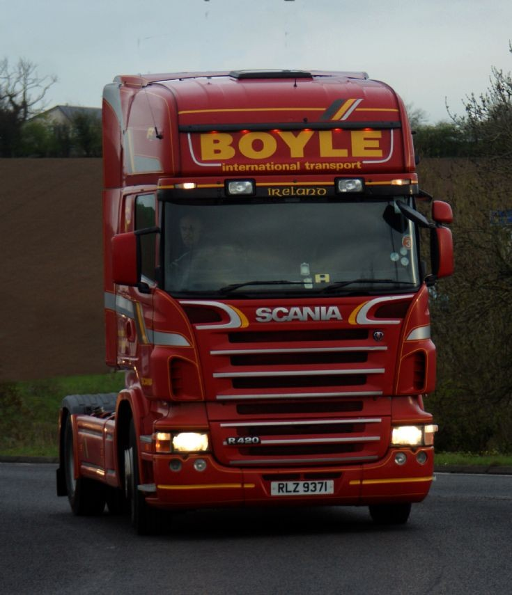 Scania R420 tractor unit of Boyle International Transport