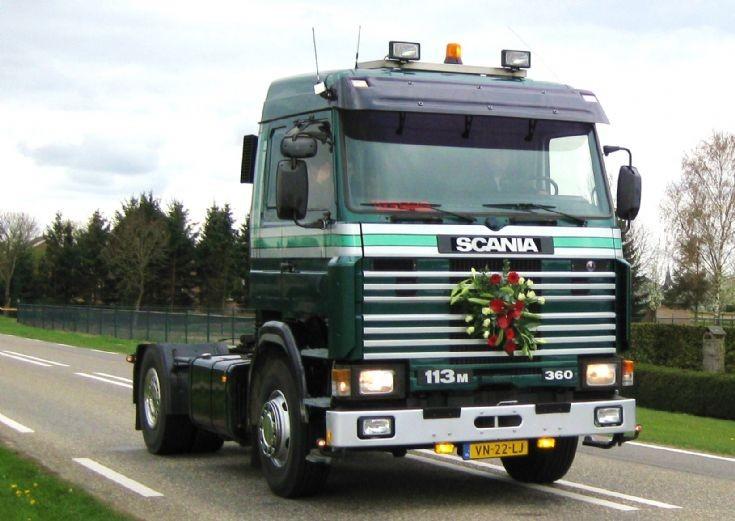 1991  Scania  R113 truck.  Hansen-Van der Wegen