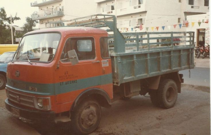 Old picture of an Om truck at CorfU