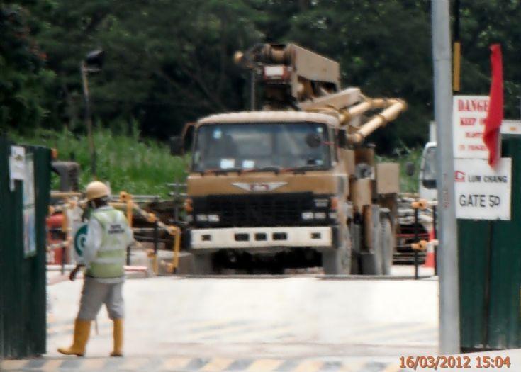 Hino Super Dolphin FS Concrete Pump Truck in Singapore