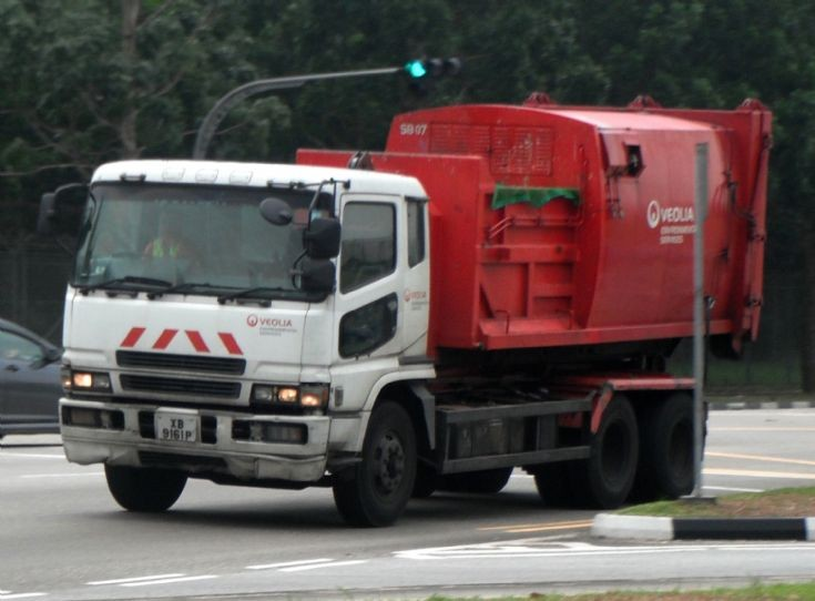 Mitsubishi Fuso Super Great FU519 series Hook Lift Truck Veolia Environmental Services