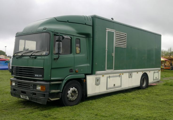 ERF EC10 lorry in West Midlands