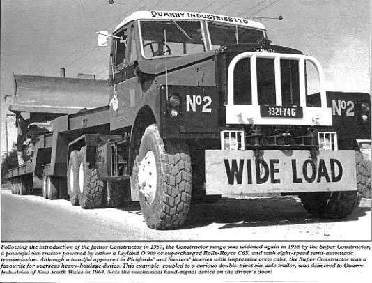 Scammell Super Constructor, NSW