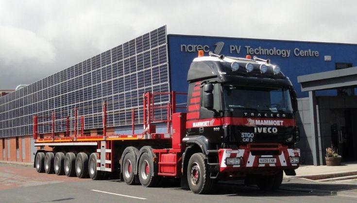 Iveco Trakker lorry of Mammoet