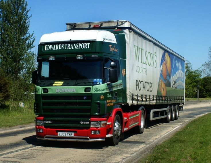 Scania R164 lorry of Edwards Transport