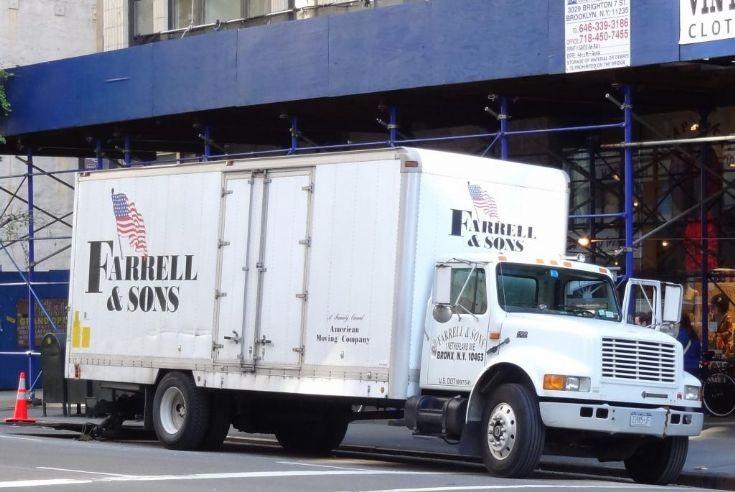International truck in New York City
