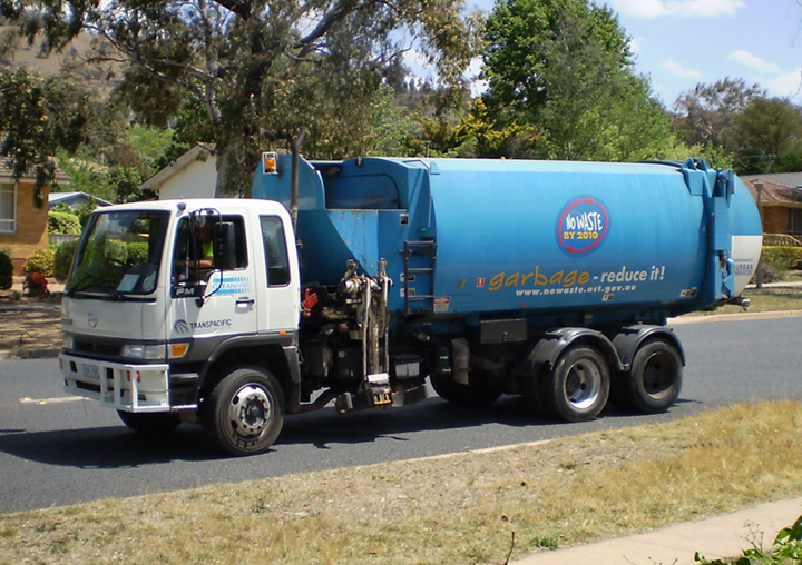 Hino garbage truck Canberra ACT, Australia