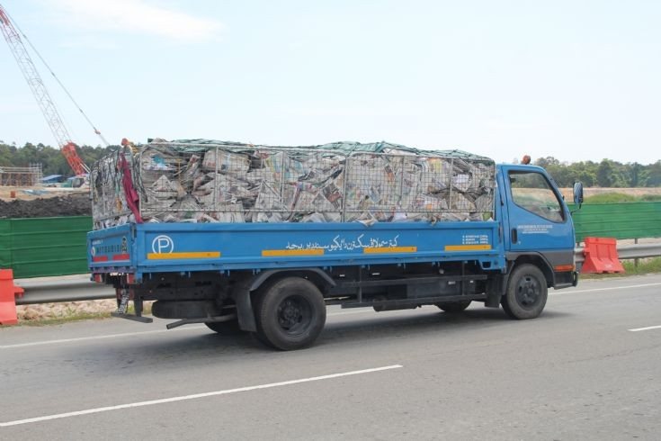 Mitsubishi Canter recycle truck