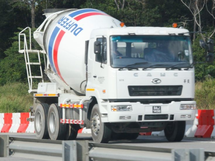 CAMC cement mixer on the road