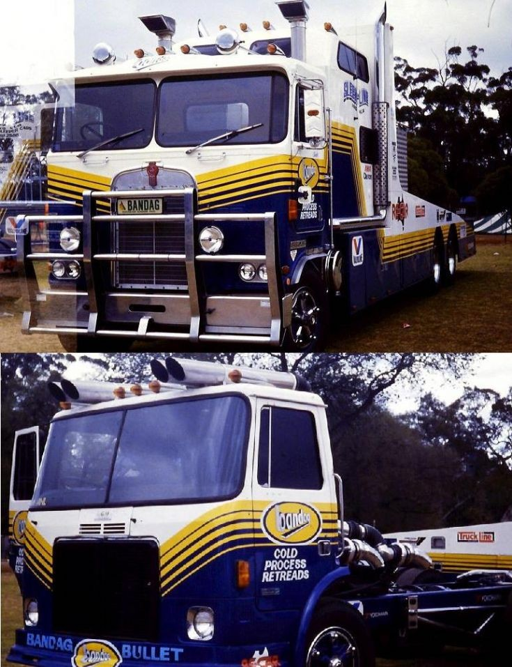 White Expeditor Drag Racing Truck & Kenworth Transporter