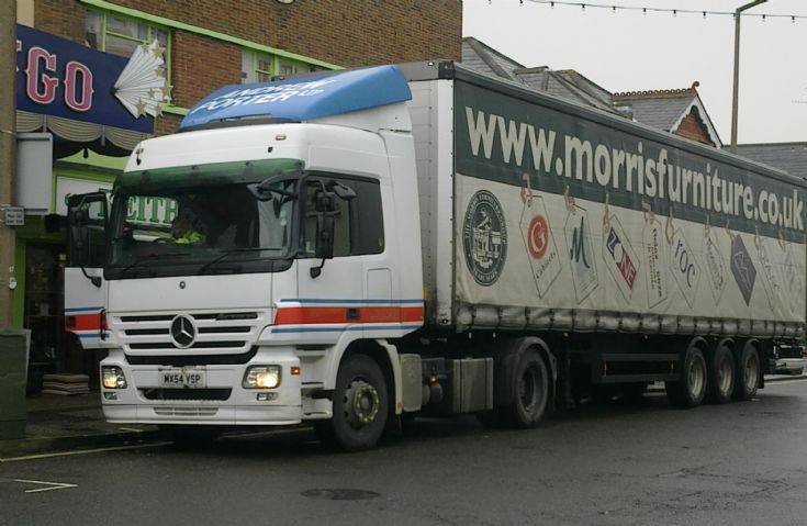 Mercedes Actros lorry in Bognor Regis