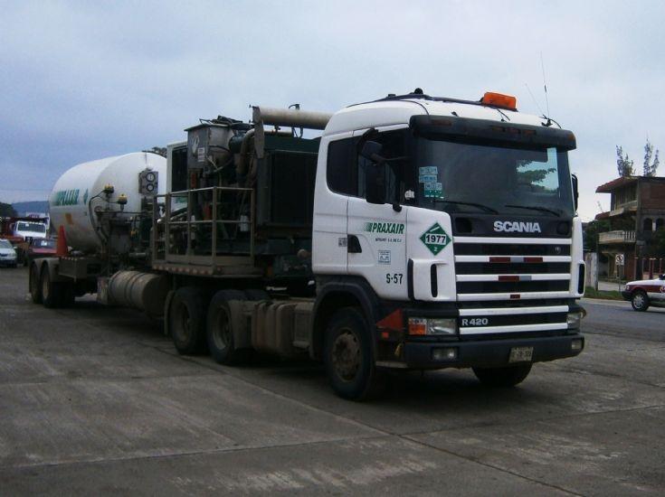 Scania R420 truck of Praxair