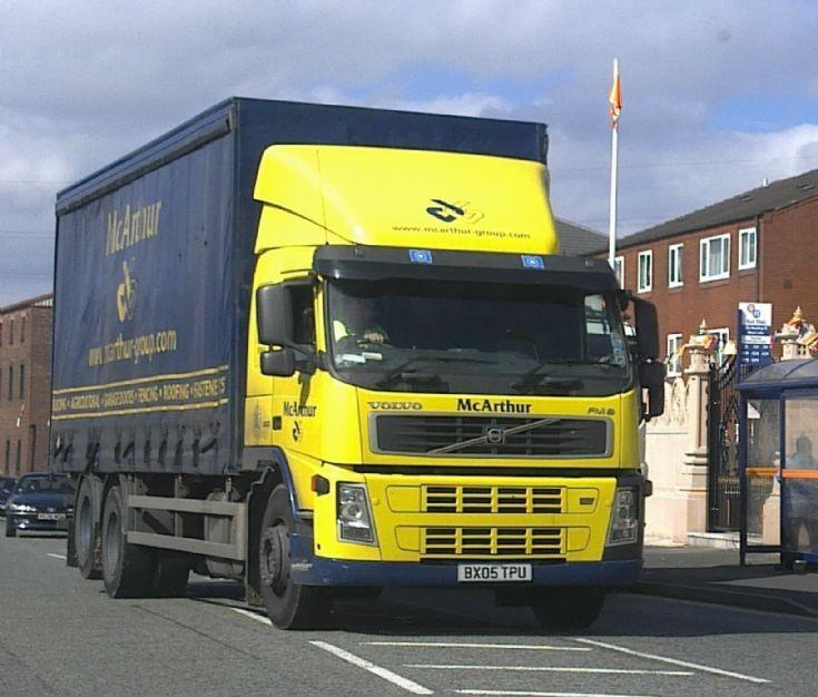 Volvo FM lorry of McArthur