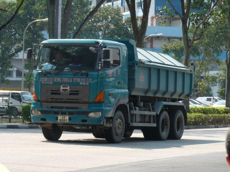 Hino dump trucks