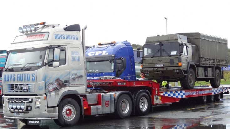 Volvo Fh and Man military truck
