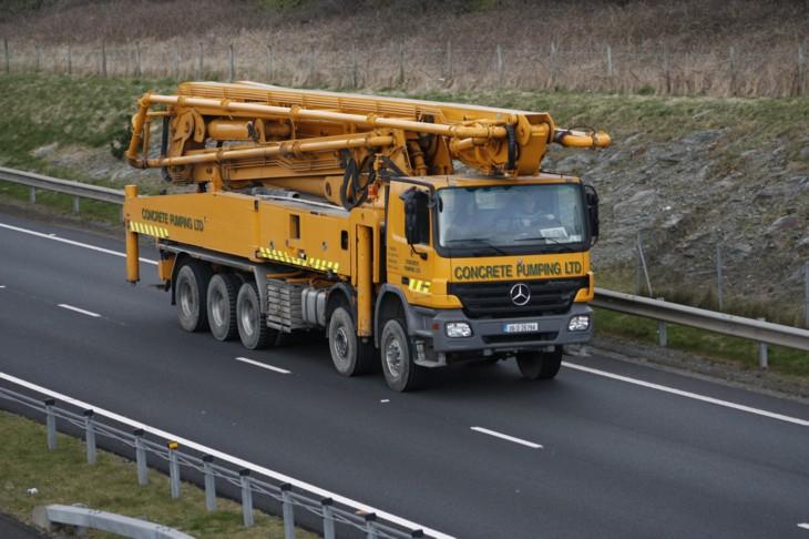 Five axle Concrete Pumping Mercedes
