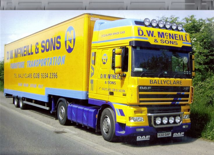 D.W MCNeill & Sons 2004 DAF XF 480 Superspace Cab