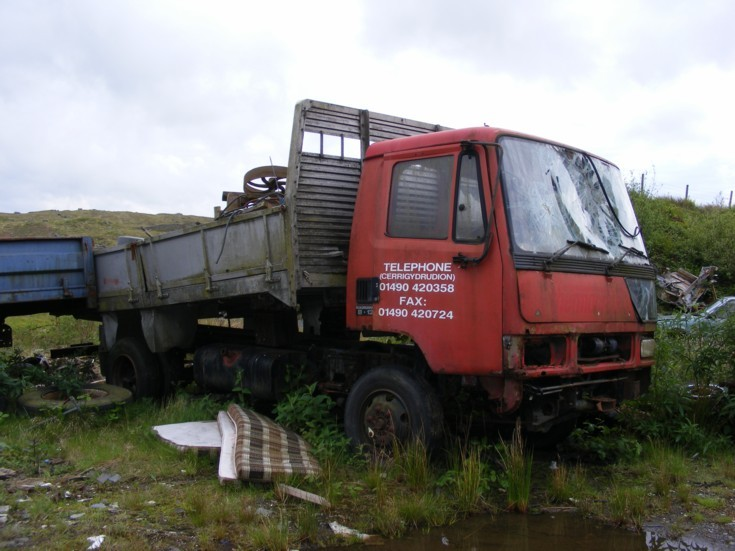 Leyalnd lorry in sad condition
