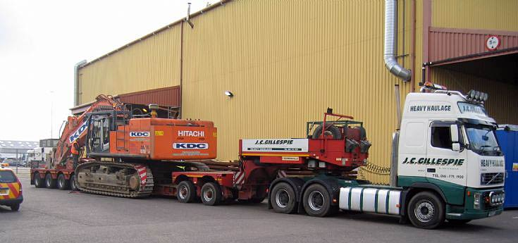 J C Gillespie Heavy Haulage Volvo FH12 520hp with finished load