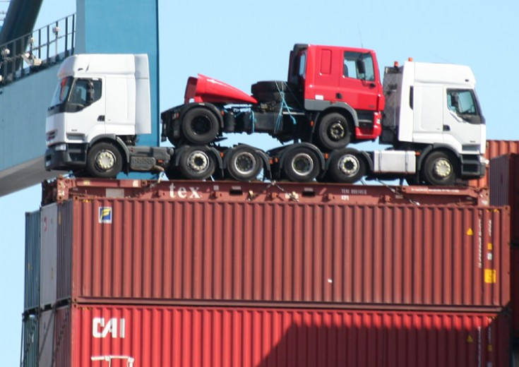 New trucks on board the container vessel SCI Mumbai
