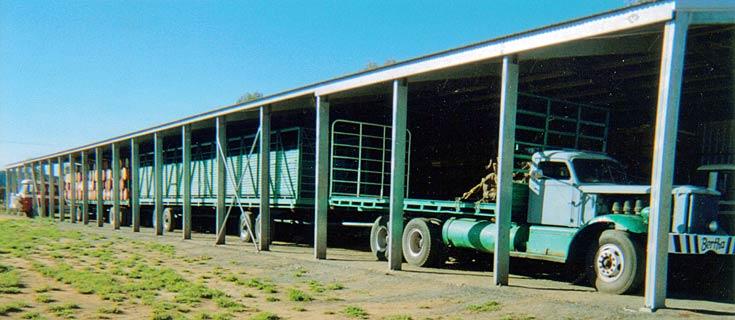 One of Kurt Johanssen's Diamond T Road Trains