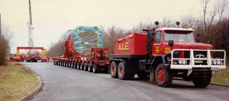 Scammel S24 with trailer and load
