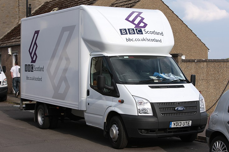 BBC Scotland Ford Transit Box Van