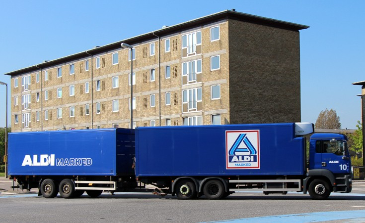 MAN Aldi destribution truck