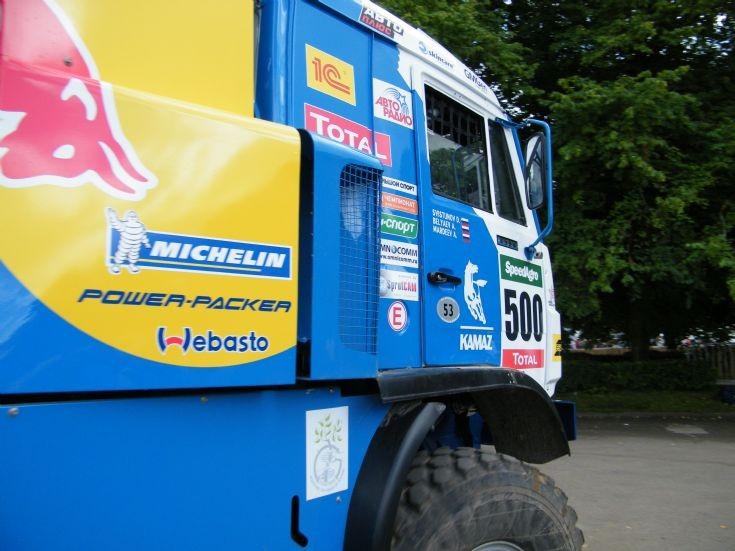 Russian Kamaz rally truck