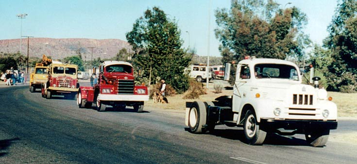Alice Springs Transport Museum Parade - International R190,  Diamond T, Foden, and Bedford
