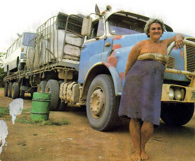 Toots Bainbridge and her truck, Australia