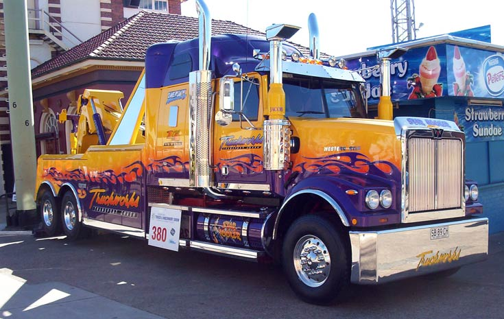 Western Star Tow Truck on show at Brisbane truck show