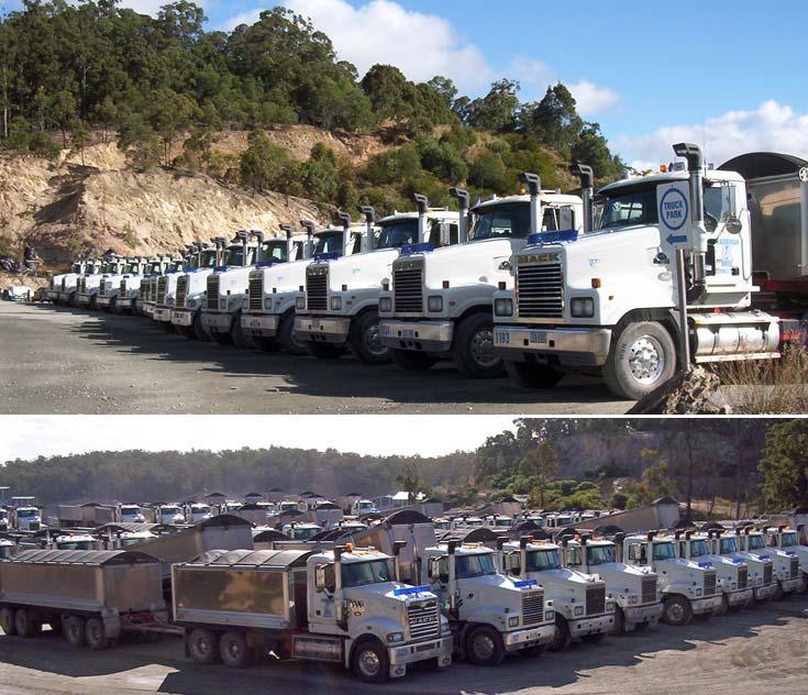 Mack Trucks at Karreman Quarries Mount Cotton, Brisbane, Queensland