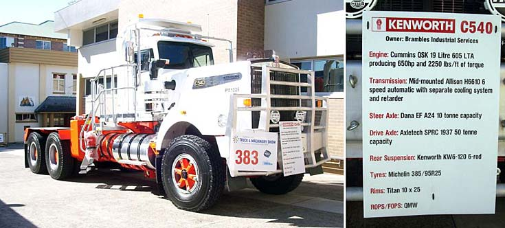 Brambles Industrial Services Kenworth C540 19 litre 650hp